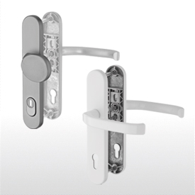 Lever handles for house front doors