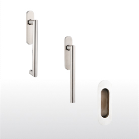 Sliding door lever handle