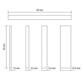 hohe Tragkraft 25 St/ück 60x40x1mm beige greenteQ Premium Unterlegplatten Pl/ättchen aus Kunststoff Abstandshalter